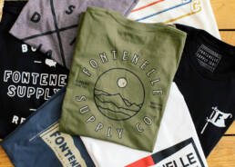 Photo of seven t-shirts