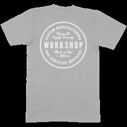Grey shirt with white print
